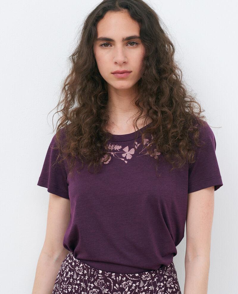 T-shirt fluide col rond Potent purple Preaux