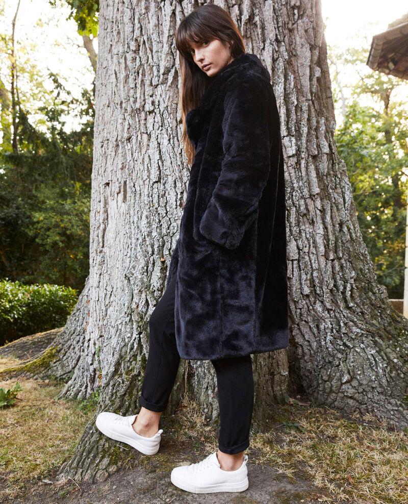 Manteau en fourrure synthétique Noir Jaout
