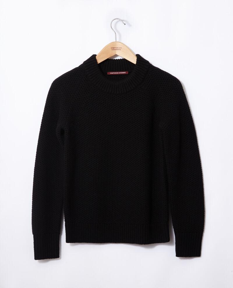 Pull en laine Noir Ginseng