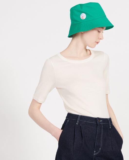 T-shirt fines côtes en coton mercerisé BUTTERCREAM