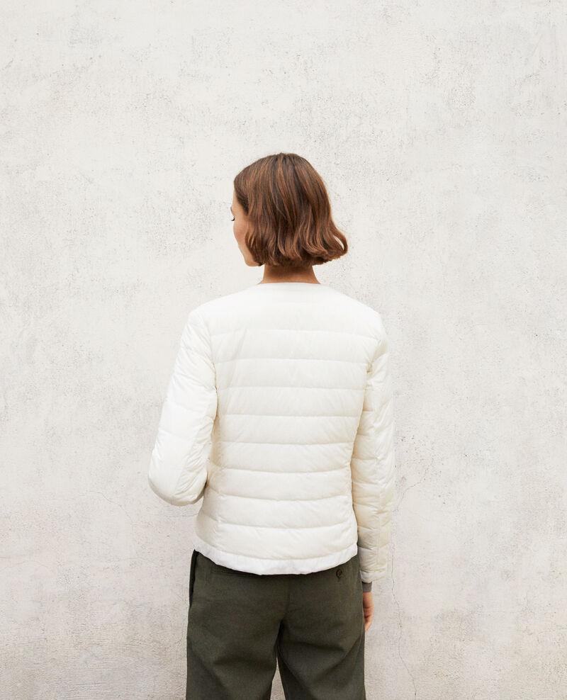 Doudoune iconique Mademoiselle Plume Light grey/off white Illopou