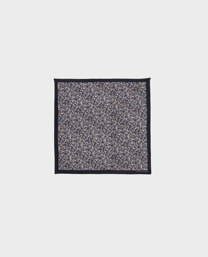 Carré en laine imprimé Stone blue Piberty