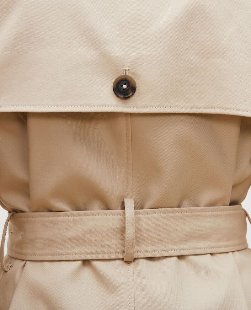 CATHERINE - Trench iconique en coton Smoke gray Lambert
