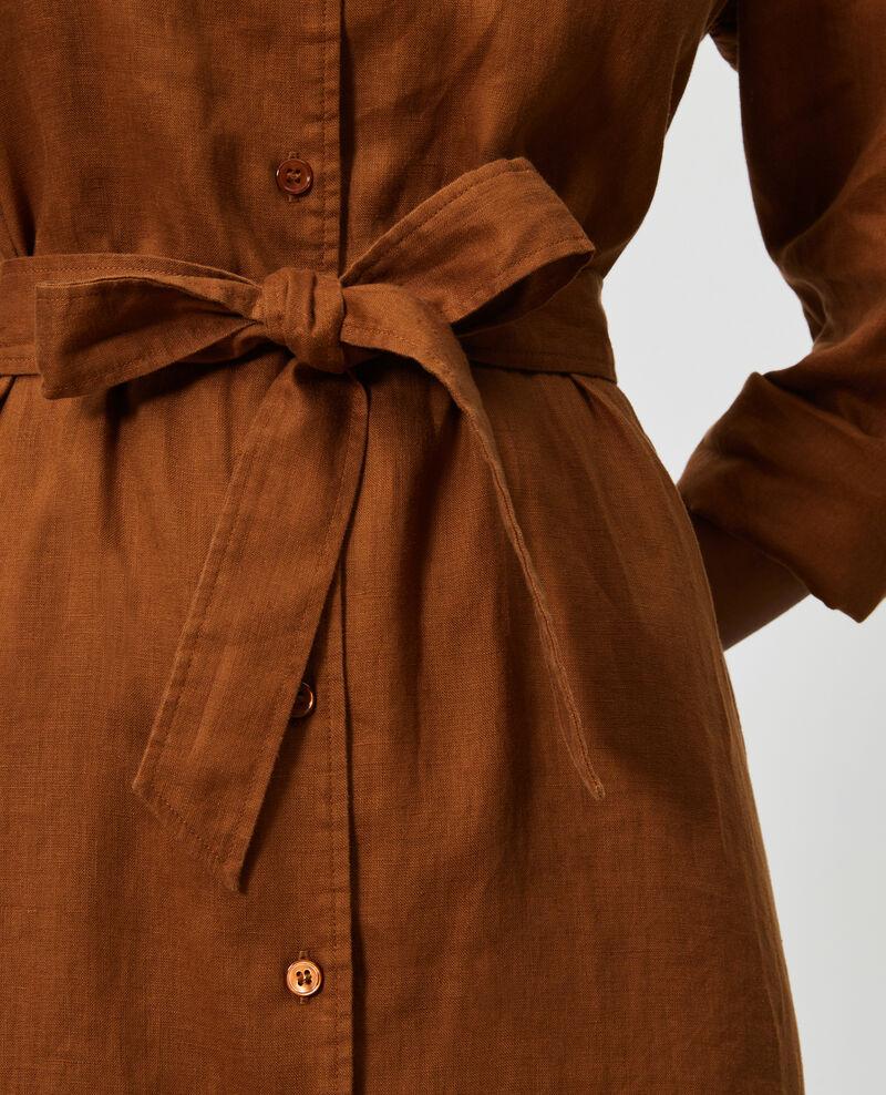 Robe chemise en lin Monks robe Lesprit