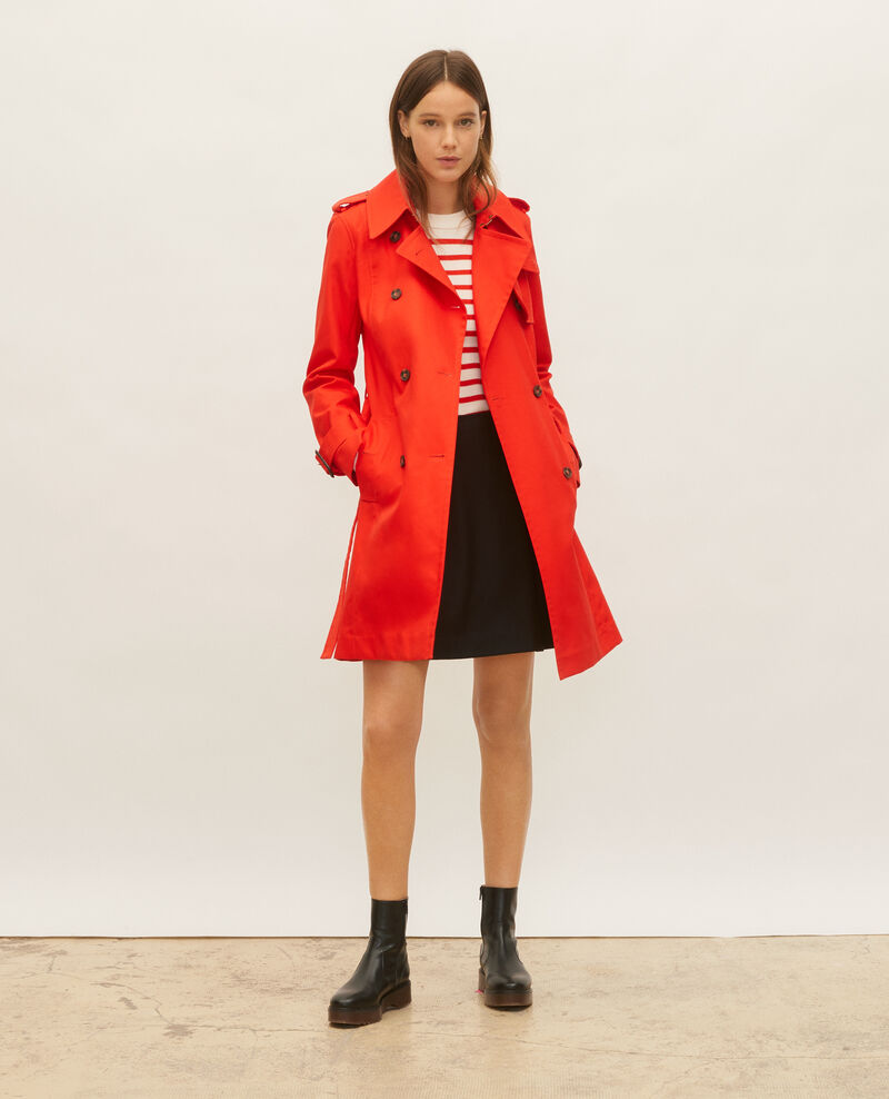 Trench iconique en coton Fiery red Lambert