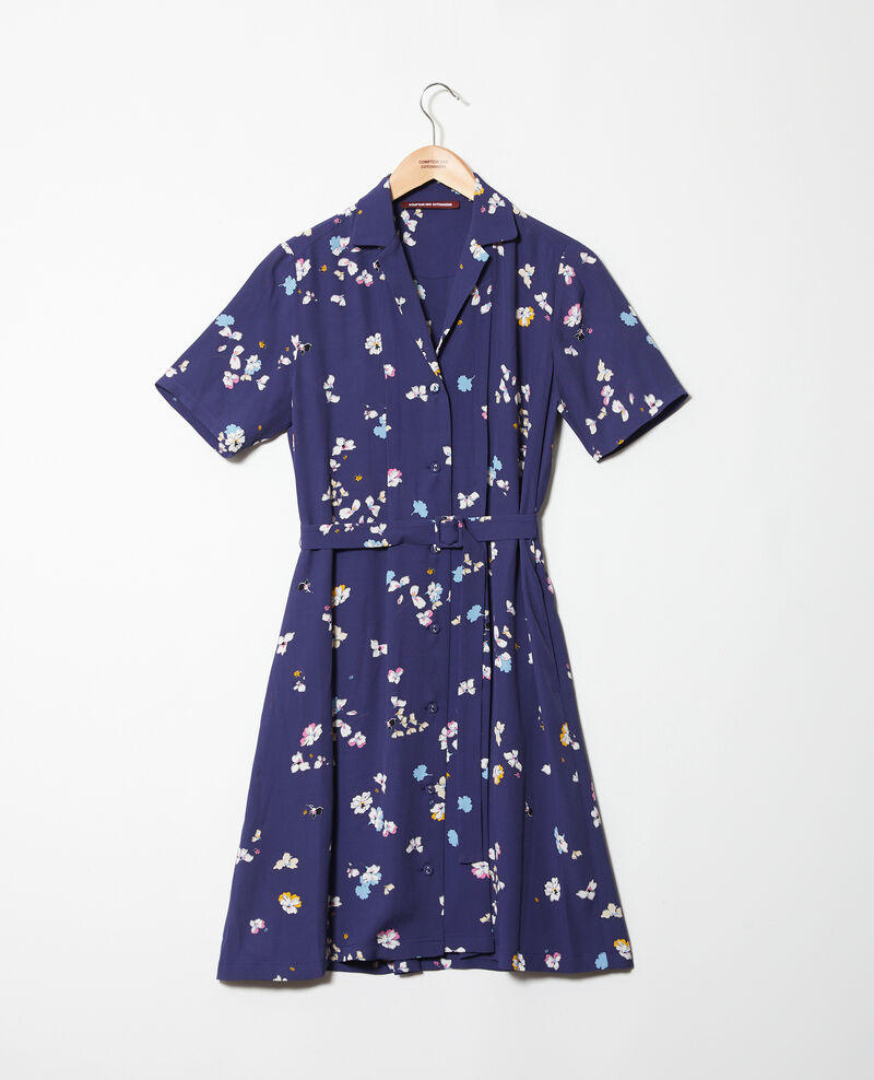 Robe imprimée Dry flower navy 9illara