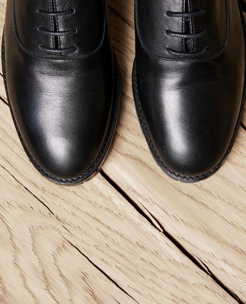 Derbies en cuir noir Noir Jaya