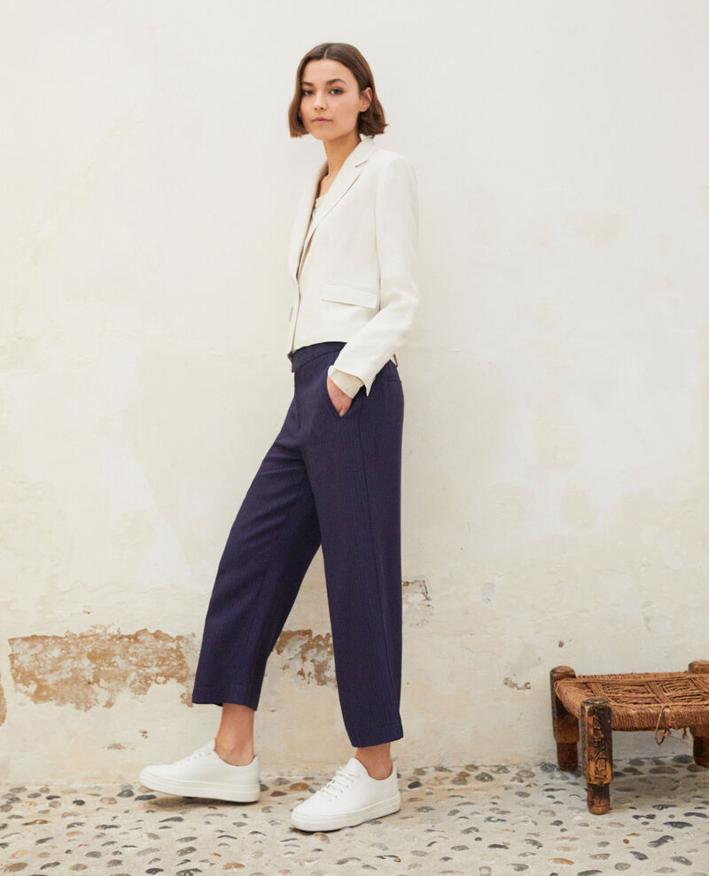 Pantalon coupe ample  Ink navy Ipolla