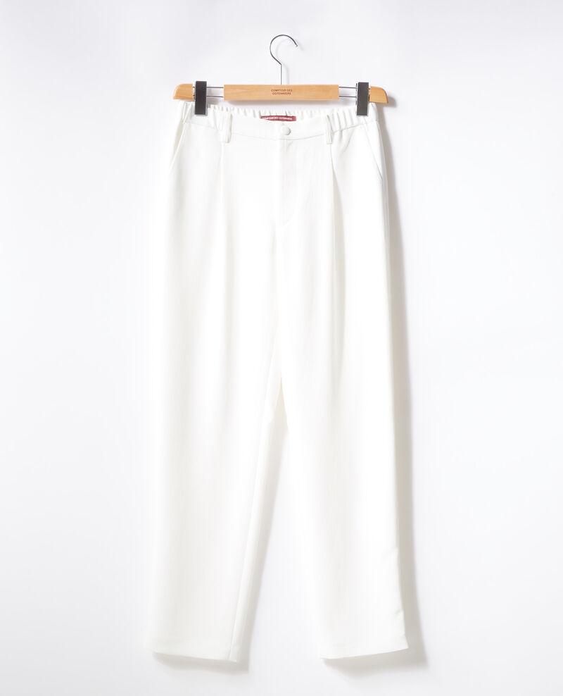 Pantalon en crêpe Blanc Focarina