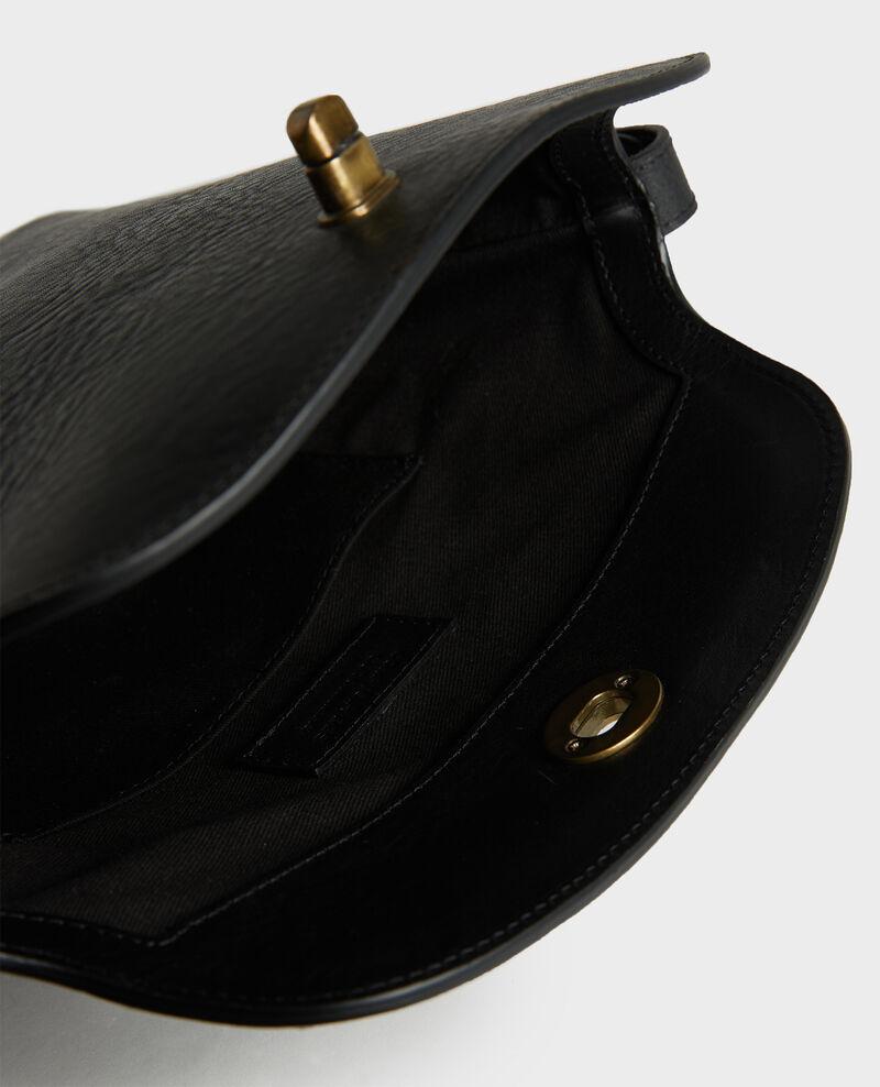 Sac à main en cuir à bandoulière courte Black beauty Lidylle