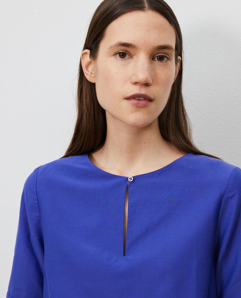 Robe courte en coton et soie  Royal blue Nerniere