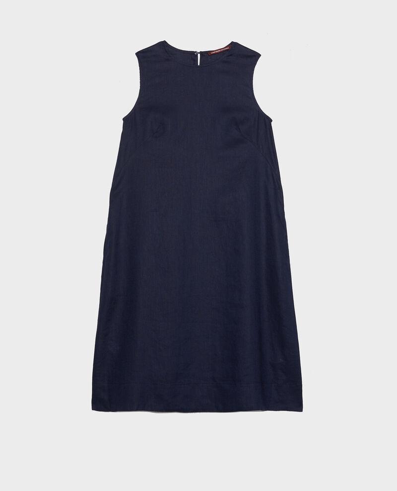 Robe 3 trous en lin Maritime blue Lux