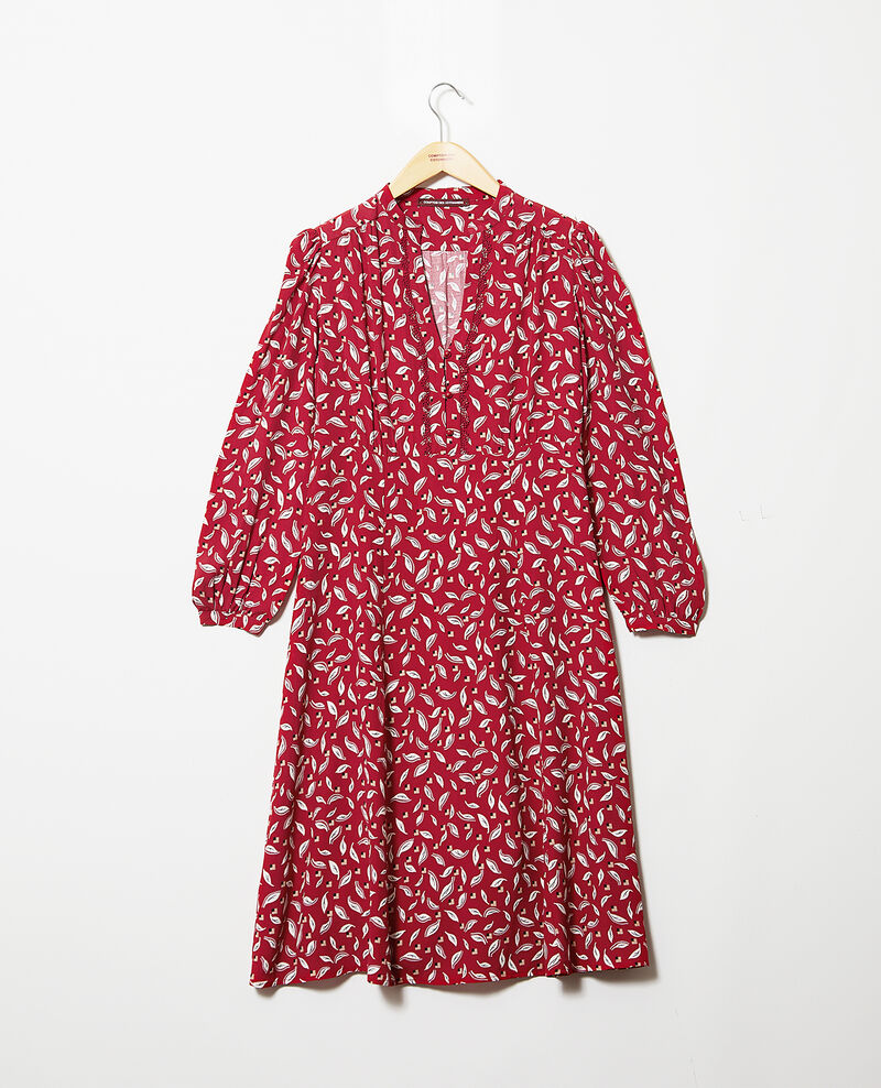 Robe imprimée Earth red Gaetane