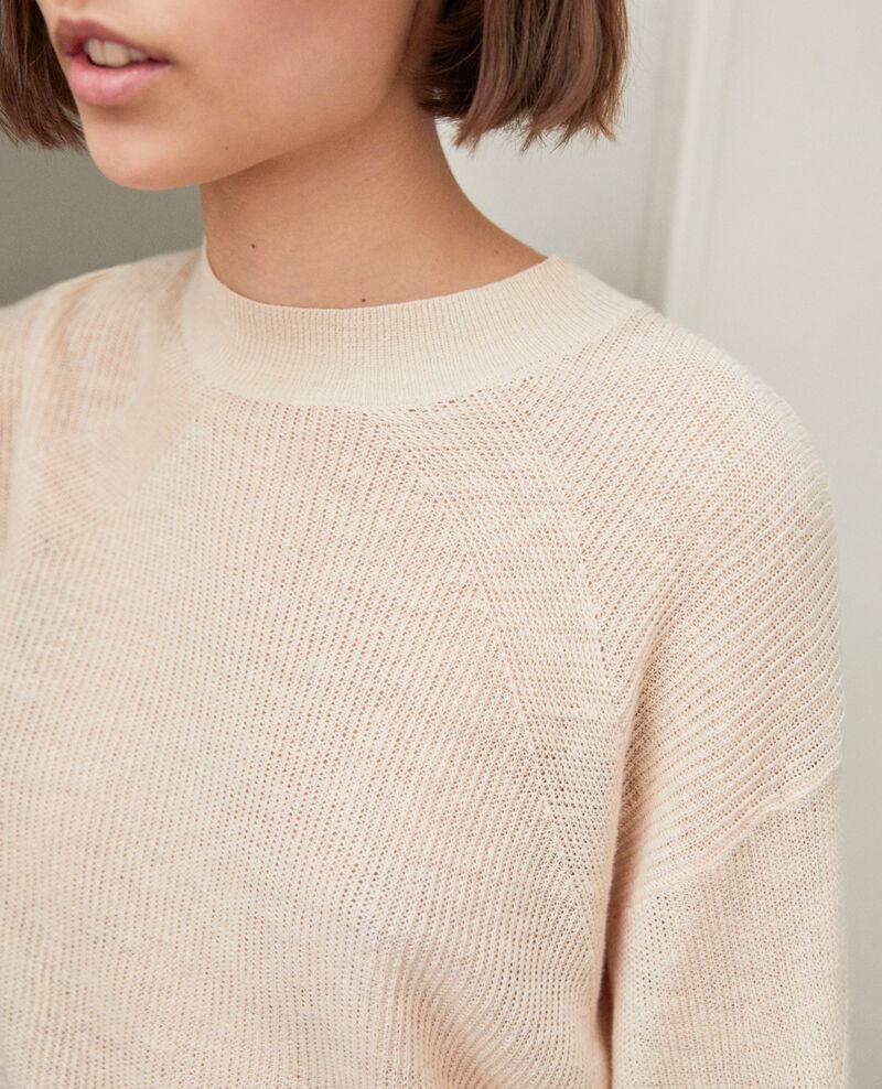Pull en lin Natural beige Icote