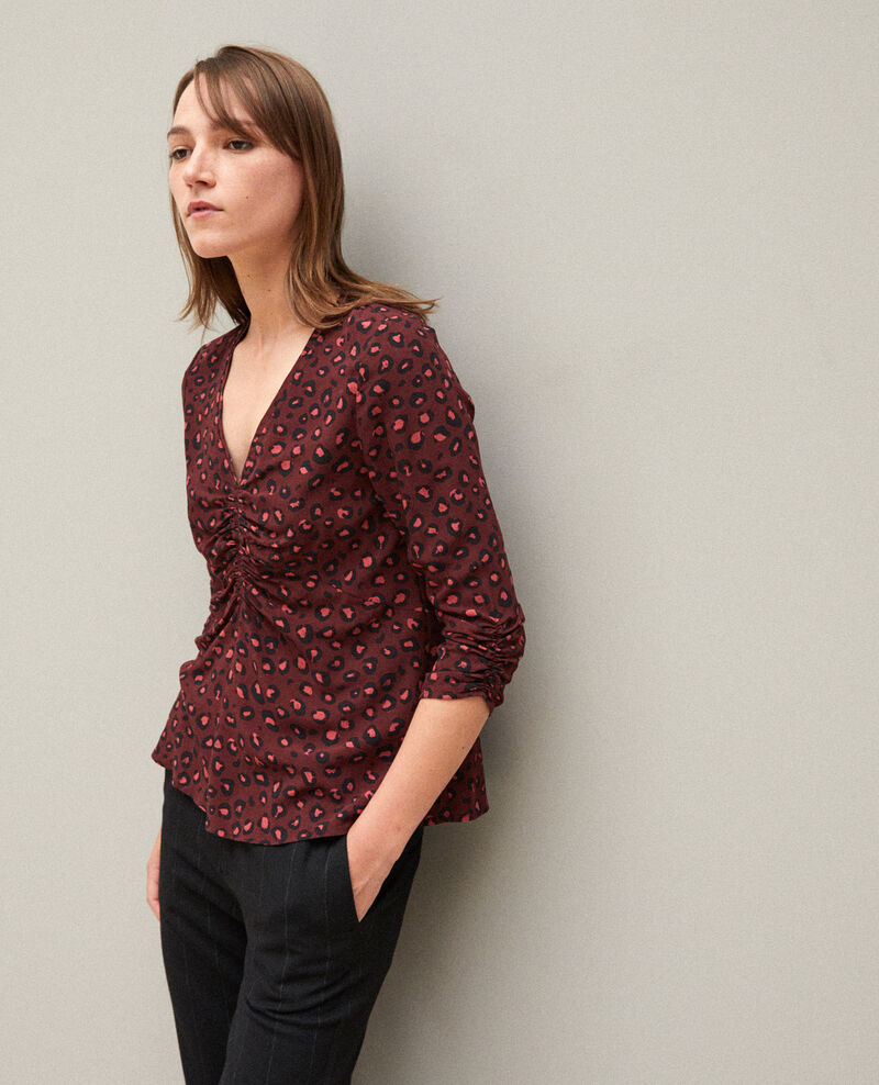 Blouse avec fronces Leopard decadente chocolate 9banthere