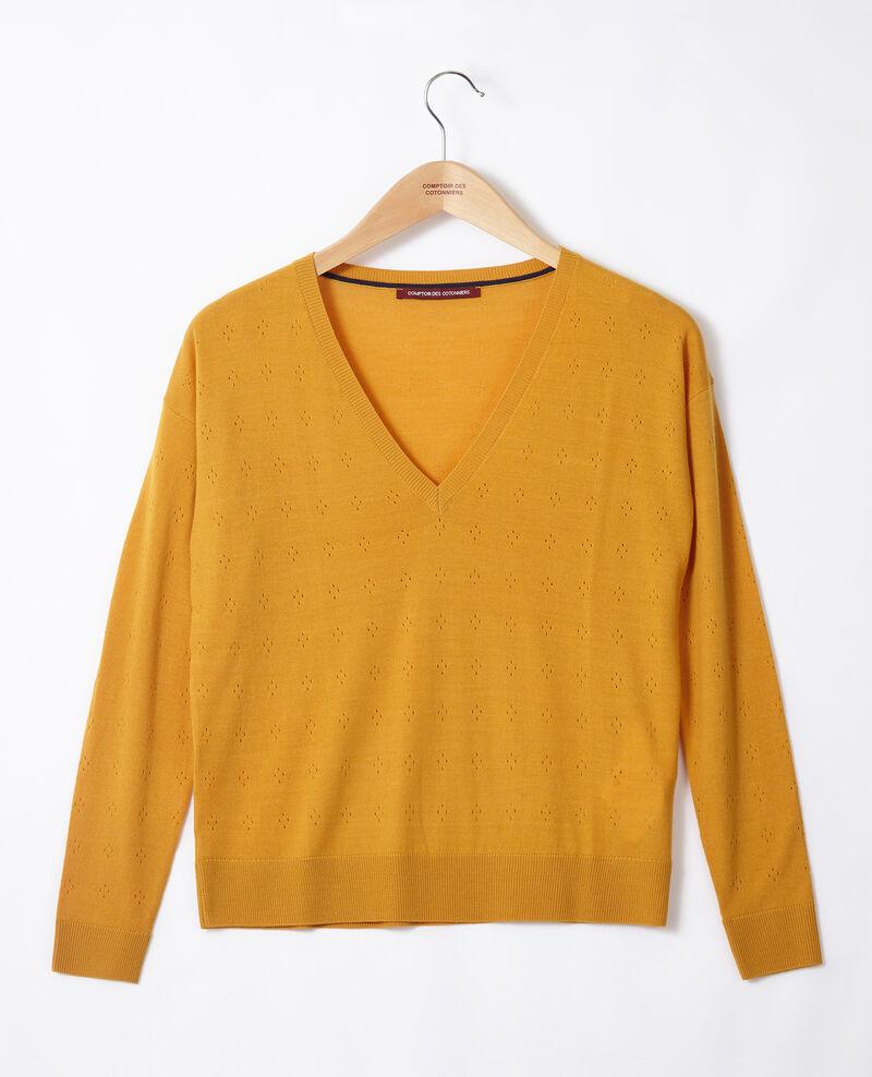 Pull en laine mérinos Golden spice Garago