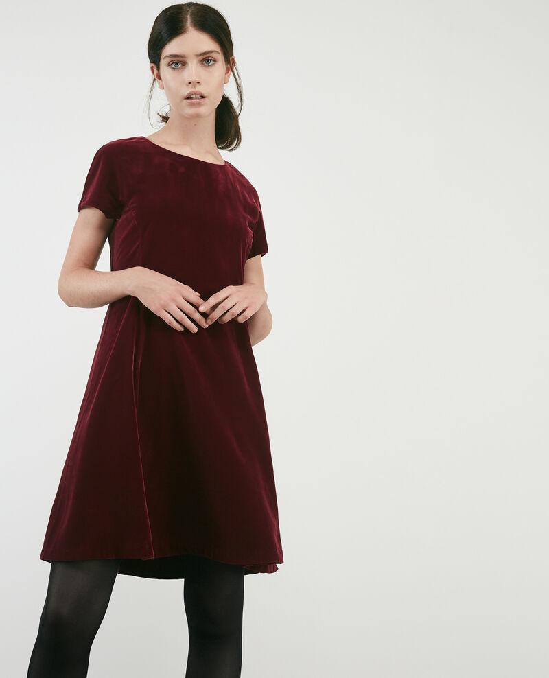 Robe En Velours Burgundy Dress Comptoir Des Cotonniers
