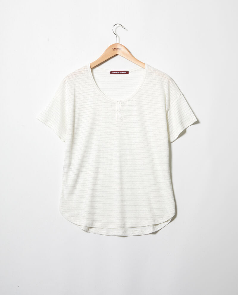T-shirt brillant avec du lin Off white Imape