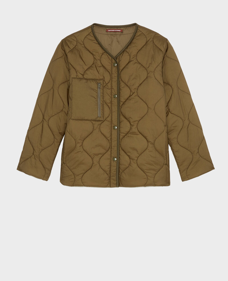 Veste doudoune ample col V  Military green Matra