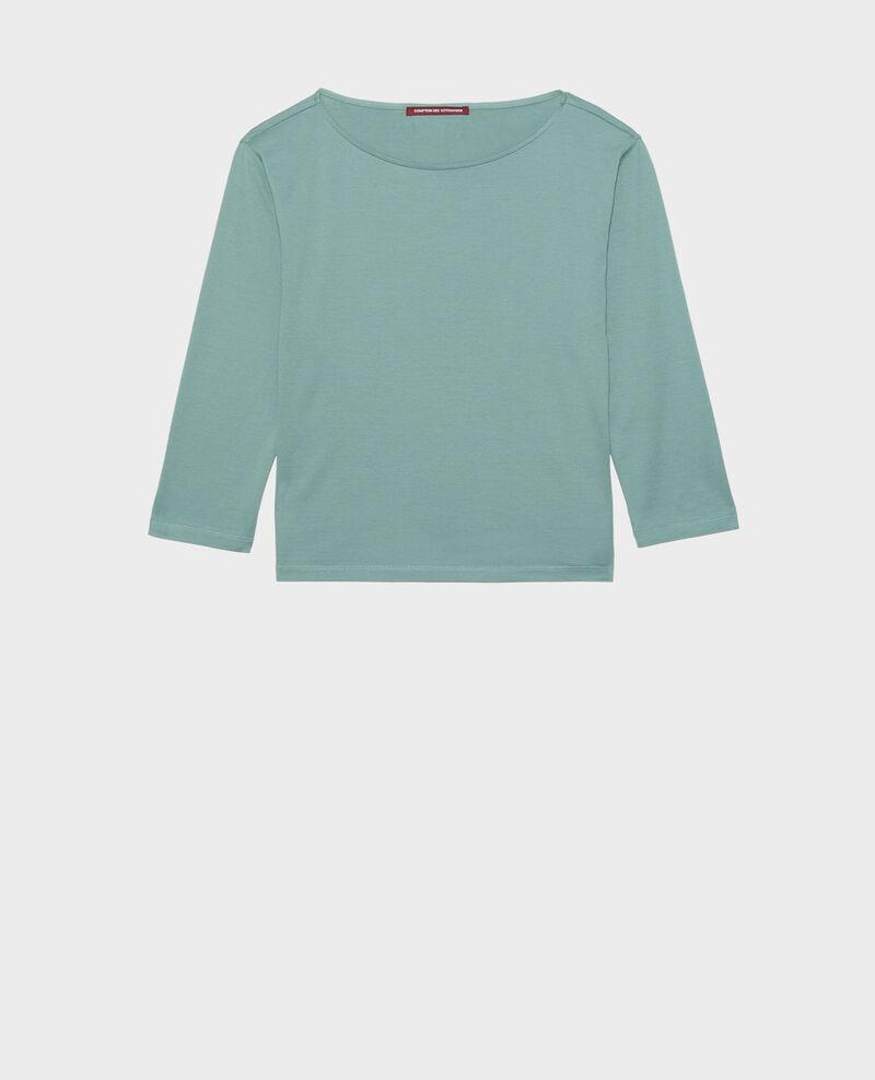 T-shirt coton manches longues col bateau Treillis Lotel