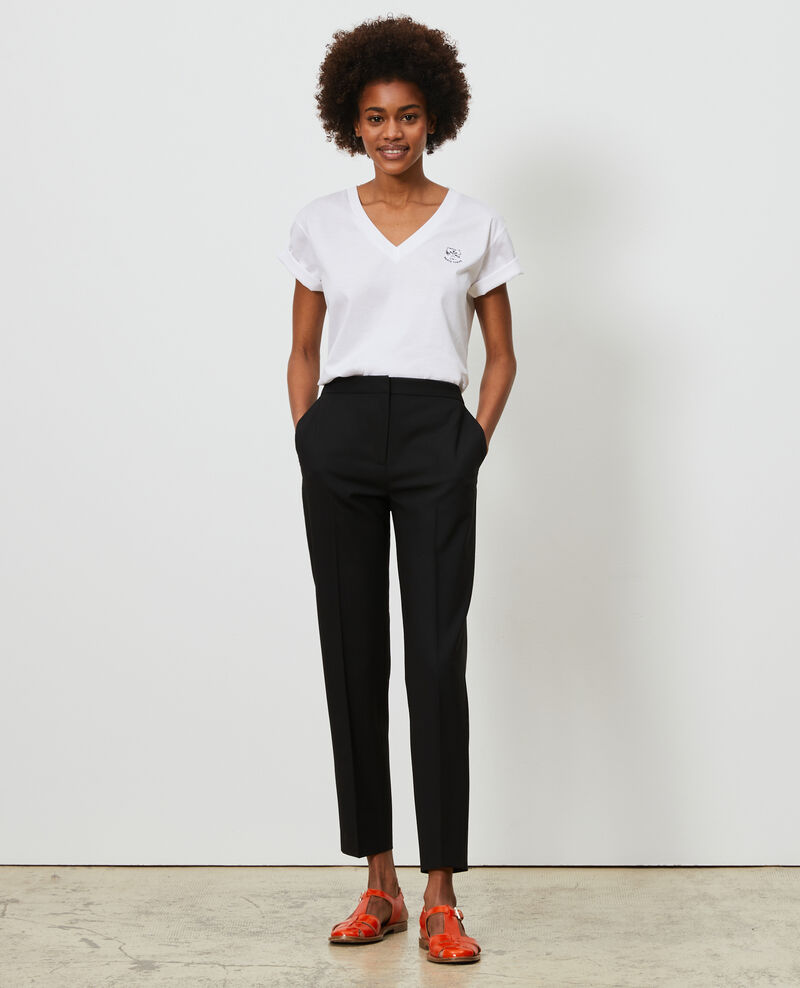 Pantalon MARGUERITE, 7/8e ajusté Black beauty Nokeasy