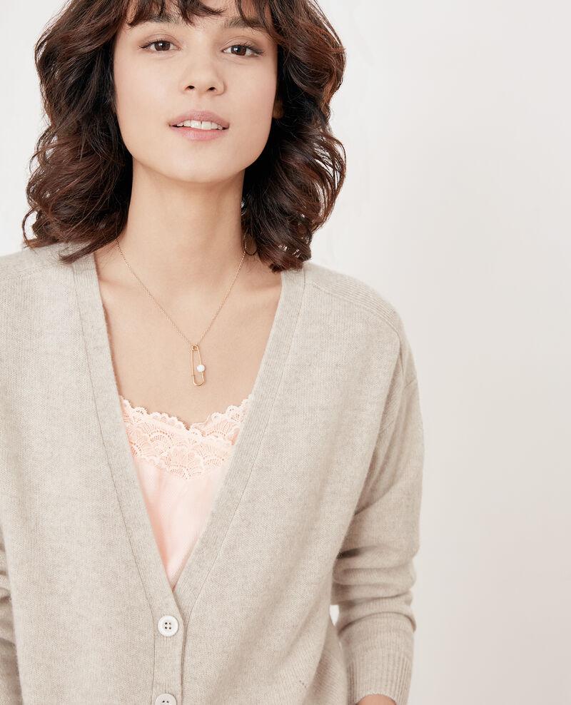 gamme de couleurs exceptionnelle meilleur en ligne valeur formidable Cardigan en cachemire Heather chalk