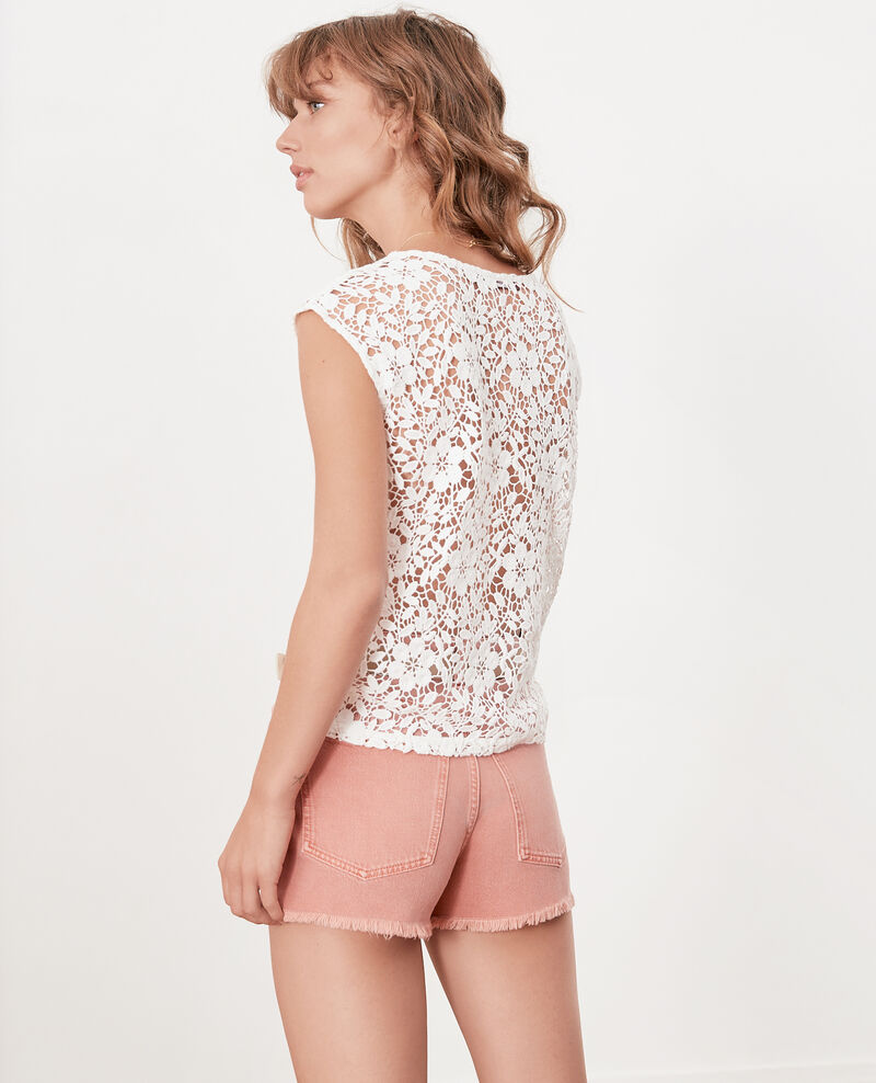 Short avec franges Faded rose Fintashort
