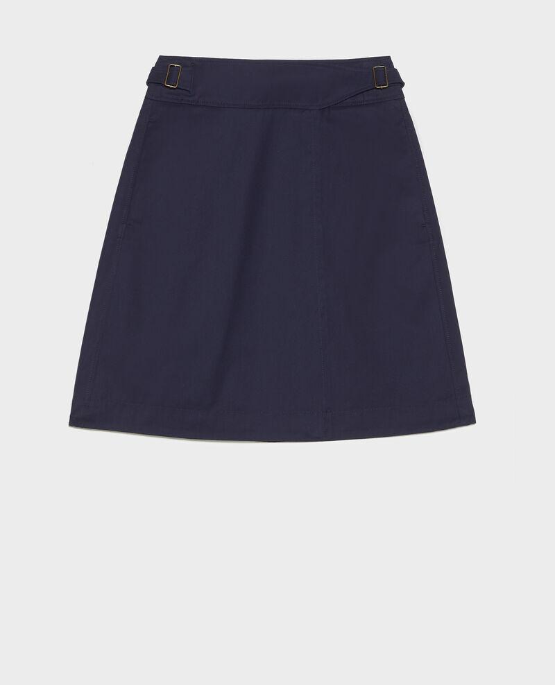 Jupe portefeuille en coton Maritime blue Lyrtille