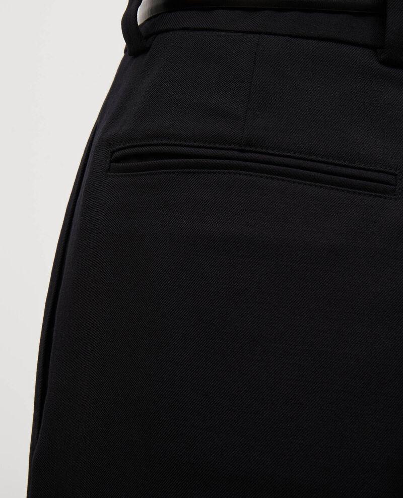 Bermuda ample en laine taille haute Black beauty Mercal
