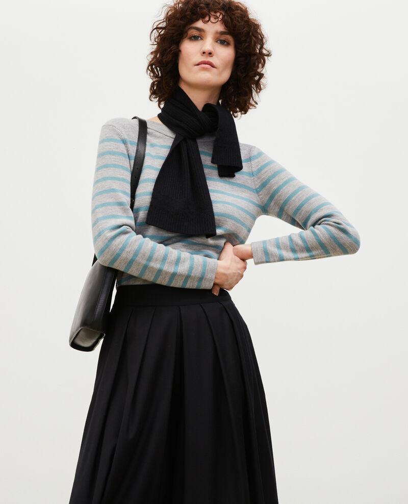 MADDY - Pull marin en laine Str_ltgry_ trs Liselle