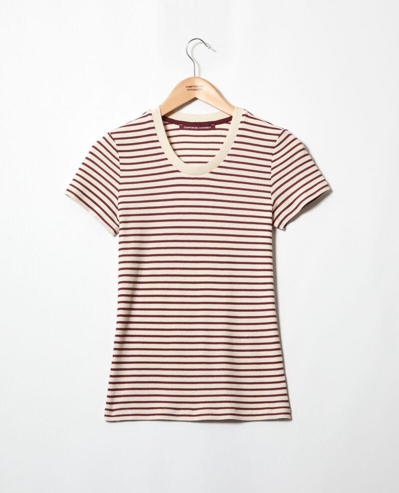 T-shirt marinière Beige/red Ivea