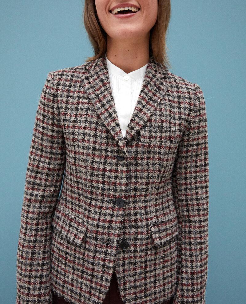 Veste de costume avec de la laine Cowhide Gorte