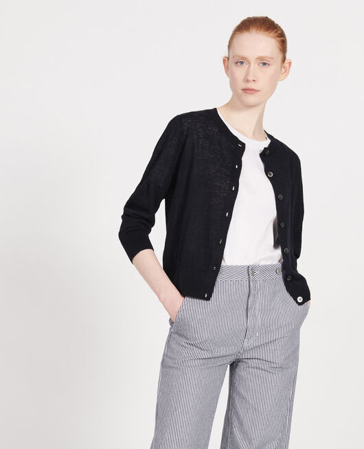 Cardigan en lin BLACK BEAUTY