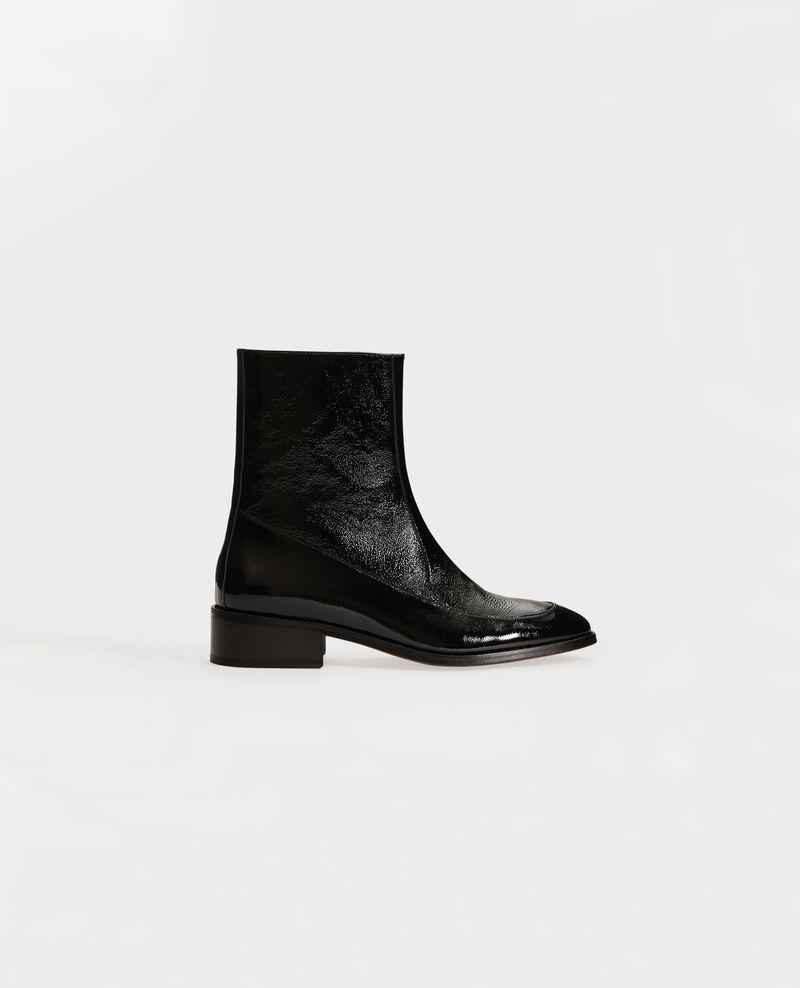 Boots ajustées en cuir Black beauty Mamine
