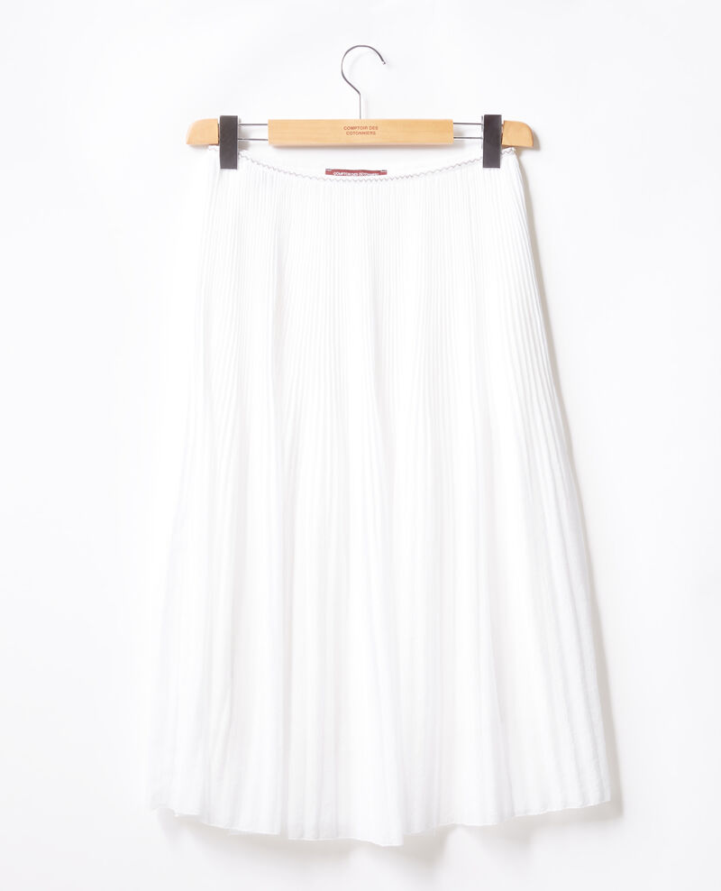 Jupe plissée Blanc Florie