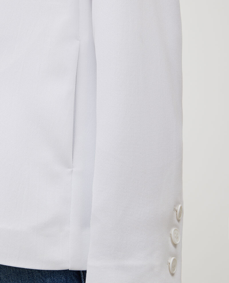 Veste de smoking en polyester fluide Optical white Levibal