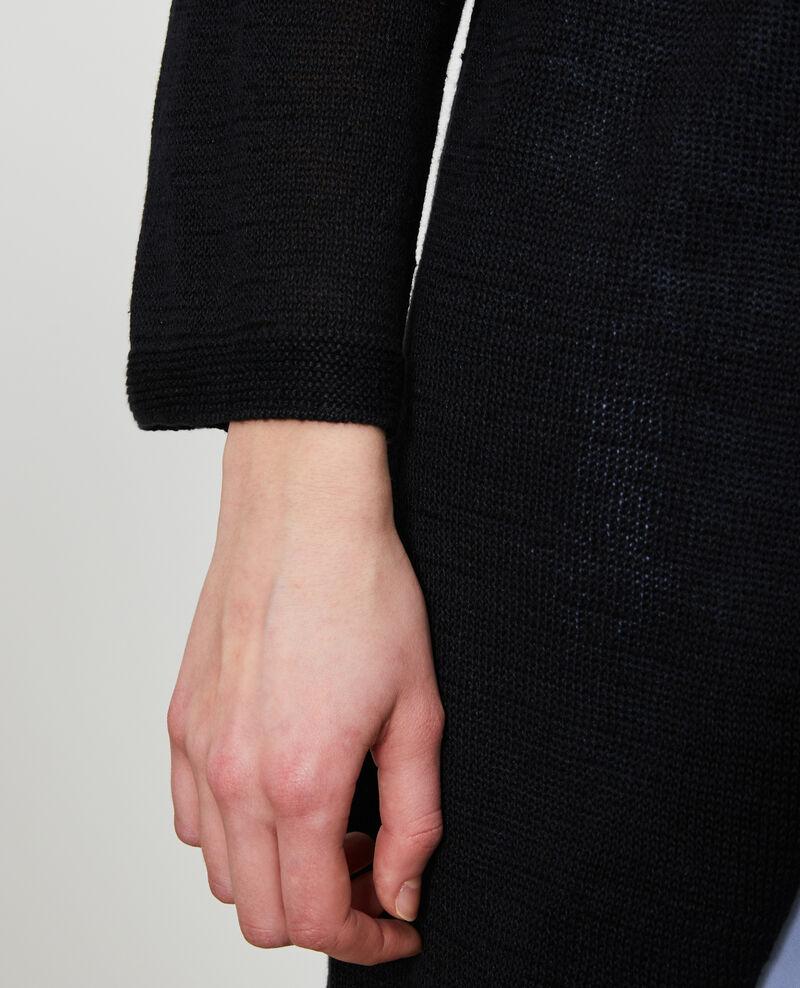 Cardigan long en lin Black beauty Lalima