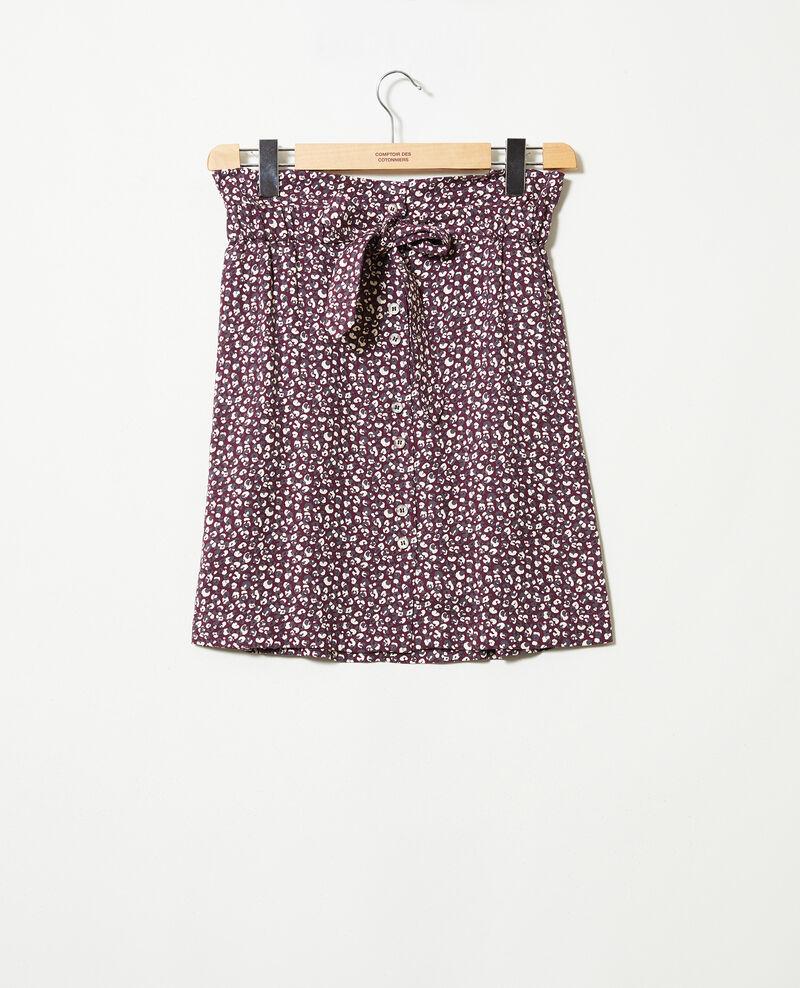 Jupe imprimée Leopard potent purple Jorage
