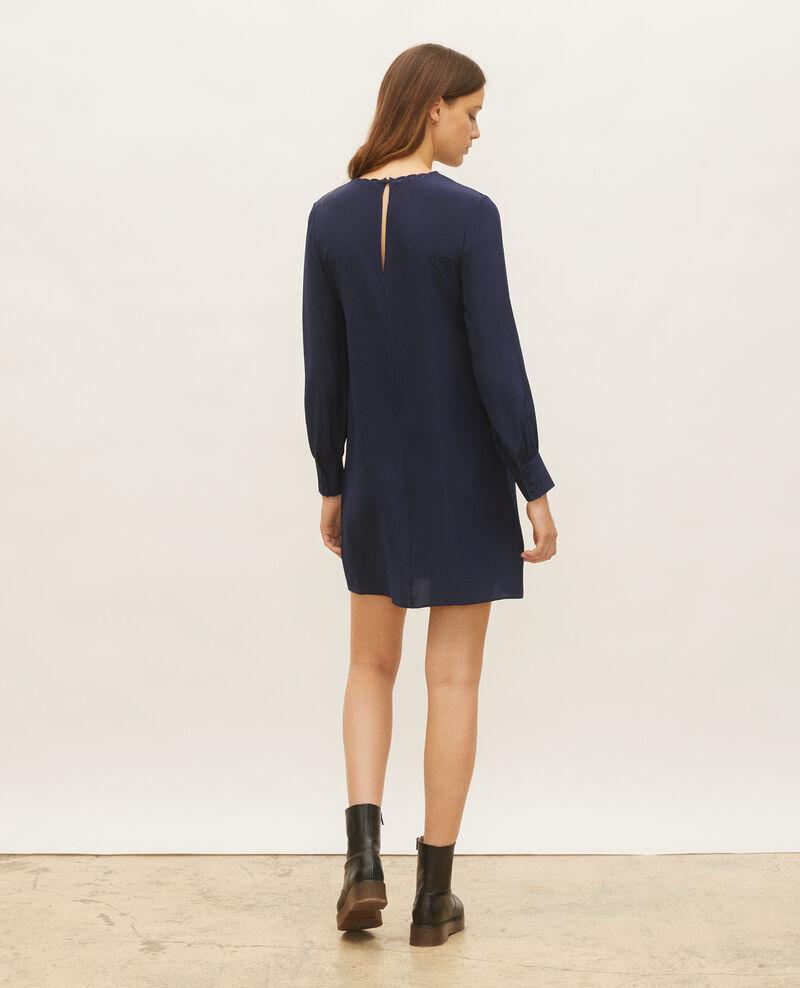 Robe en soie ample et courte Maritime blue Lamax
