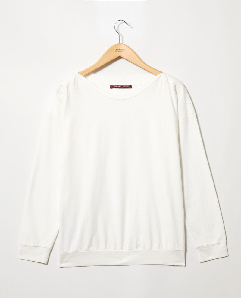 Sweatshirt col bateau Blanc Inkaja