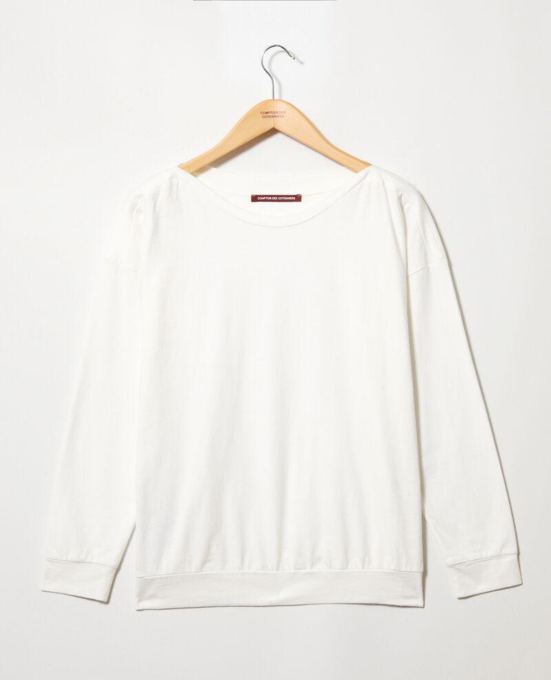 Sweatshirt col bateau Off white Inkaja