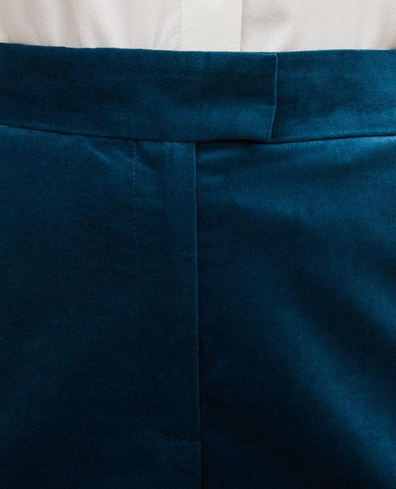 Pantalon flare en velours taille haute 7/8e Blue coral Marousseau