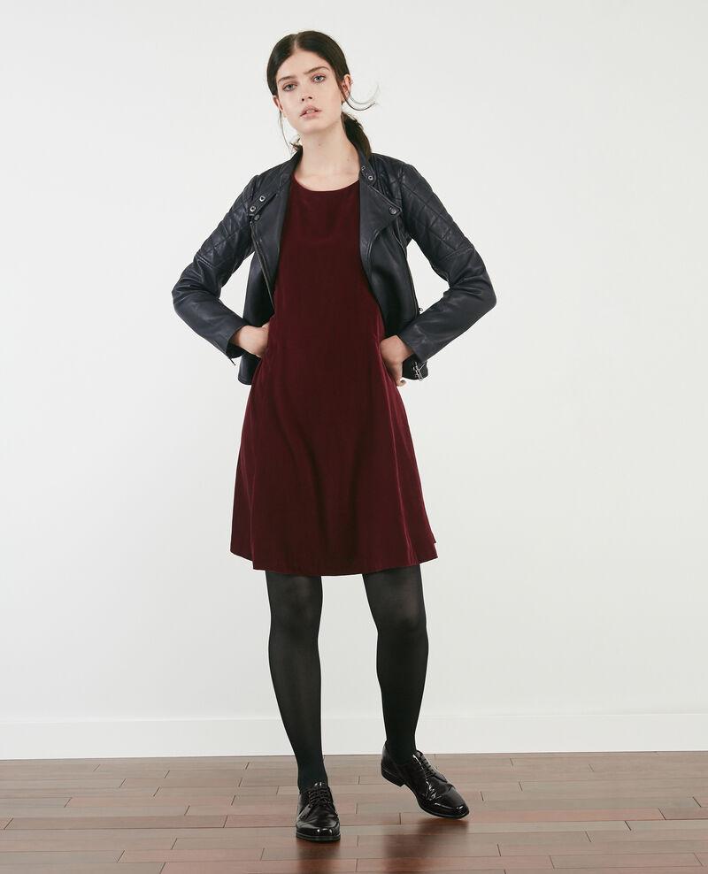 Robe en velours Burgundy Dress
