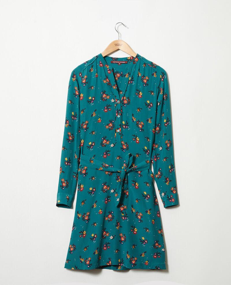 Robe chemise avec ceinture Bouquet mediteranea Jarine