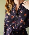 Robe chemise avec ceinture Bouquet deep well Jarine