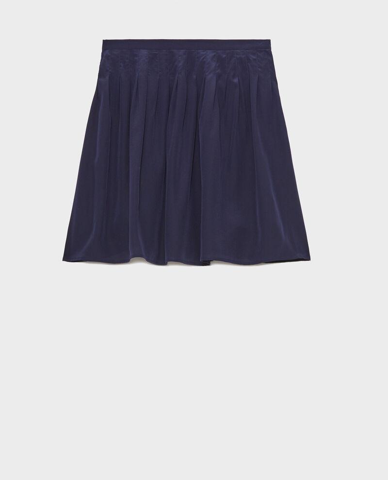Jupe plisée en soie Maritime blue Logrian