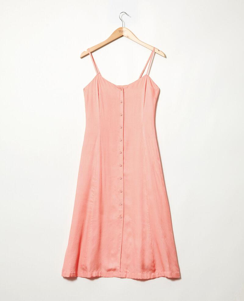 Robe fines bretelles avec de la soie Salmon pink Ibriella