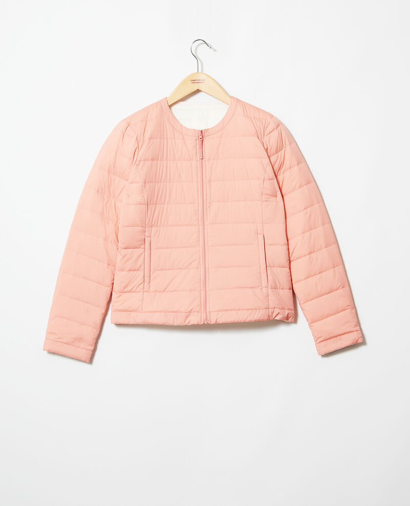 Doudoune iconique Mademoiselle Plume Salmon pink/champagne Illopou