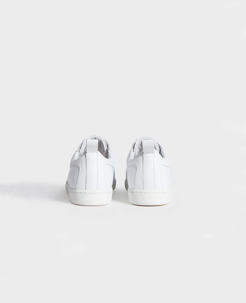 Sneaker en cuir à lacets Optical white Lead