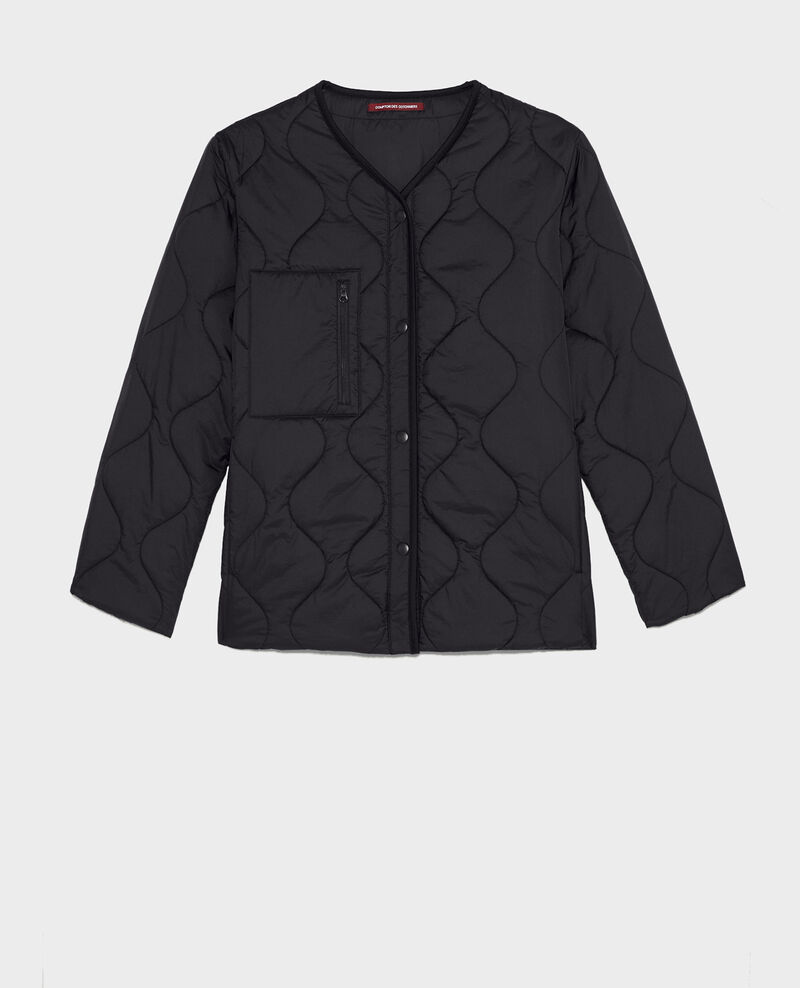 Veste doudoune ample col V  Black beauty Matra